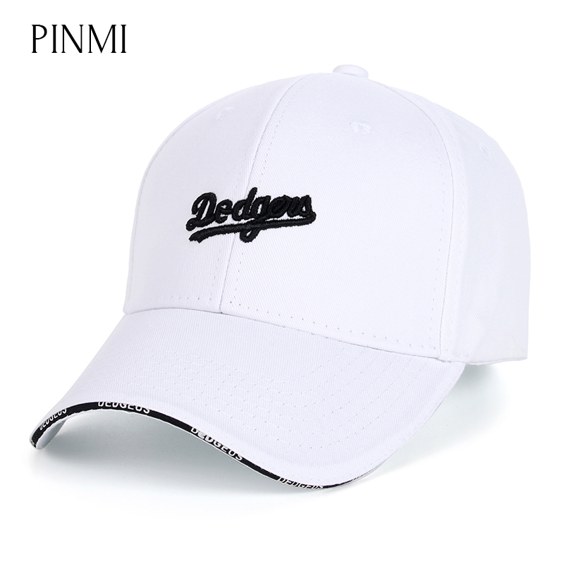 PINMI Design Men Baseball Cap Women Embroidery Letter Snapback Caps Brand Unisex White Adjustable Gorras Couple Hats 4 Colors aetrue winter knitted hat beanie men scarf skullies beanies winter hats for women men caps gorras bonnet mask brand hats 2018