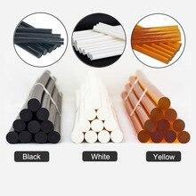 Клей-карандаш для горячего расплава 10 шт. 11x300 мм черный, белый, желтый клей-карандаш на 150 градусов термостойкий горячий клей для 11 мм Клей G