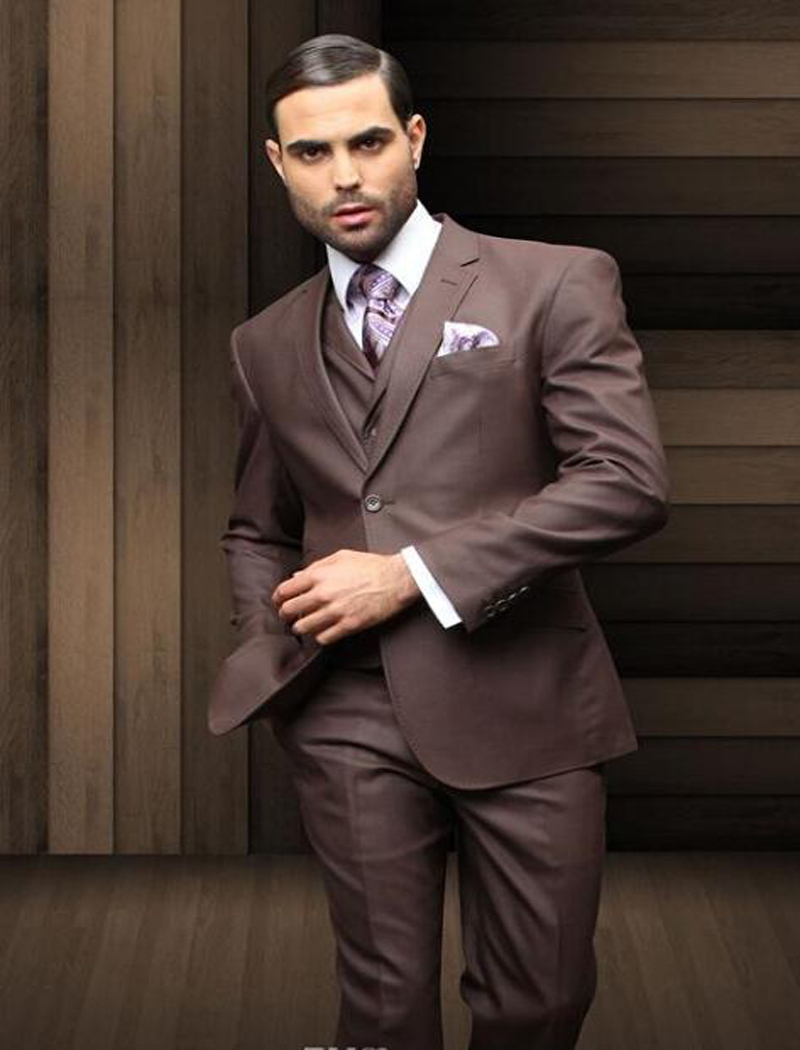 Online Buy Wholesale dark brown suit vest from China dark brown