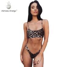 Adriana Arango 2019 Women Leopard Printed Bikinis Set High Cut Swimwear Sexy Swimsuits Summer Bathing Suits Beachwear