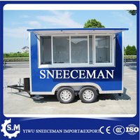 mobile food cart trucks snack food cart hot dog Hamburger ice cream traction cart By fast food trailer