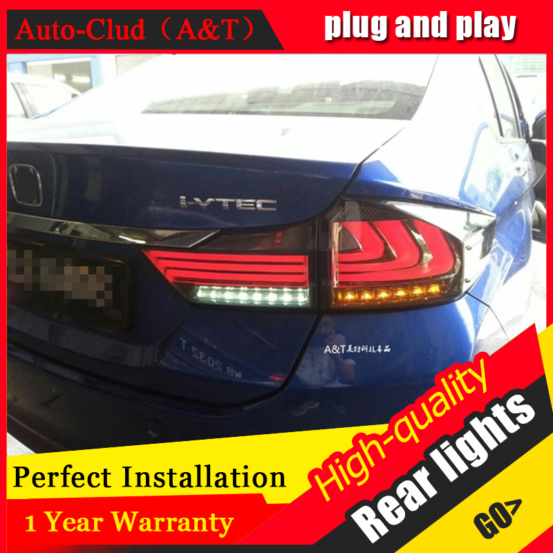 Auto Clud Car Styling Accessories for <font><b>honda</b></font> <font><b>city</b></font> rear Lights 2015 <font><b>led</b></font> TailLight <font><b>honda</b></font> <font><b>city</b></font> Rear Lamp <font><b>DRL</b></font>+Brake+Park+Signal light image
