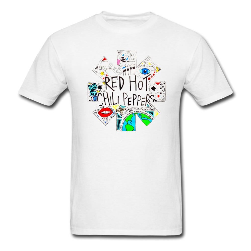 <font><b>RED</b></font> HOT CHILI PEPPERS Doodle <font><b>Logo</b></font> Tshirt Men and Women printing tee big size S~<font><b>XXXL</b></font>
