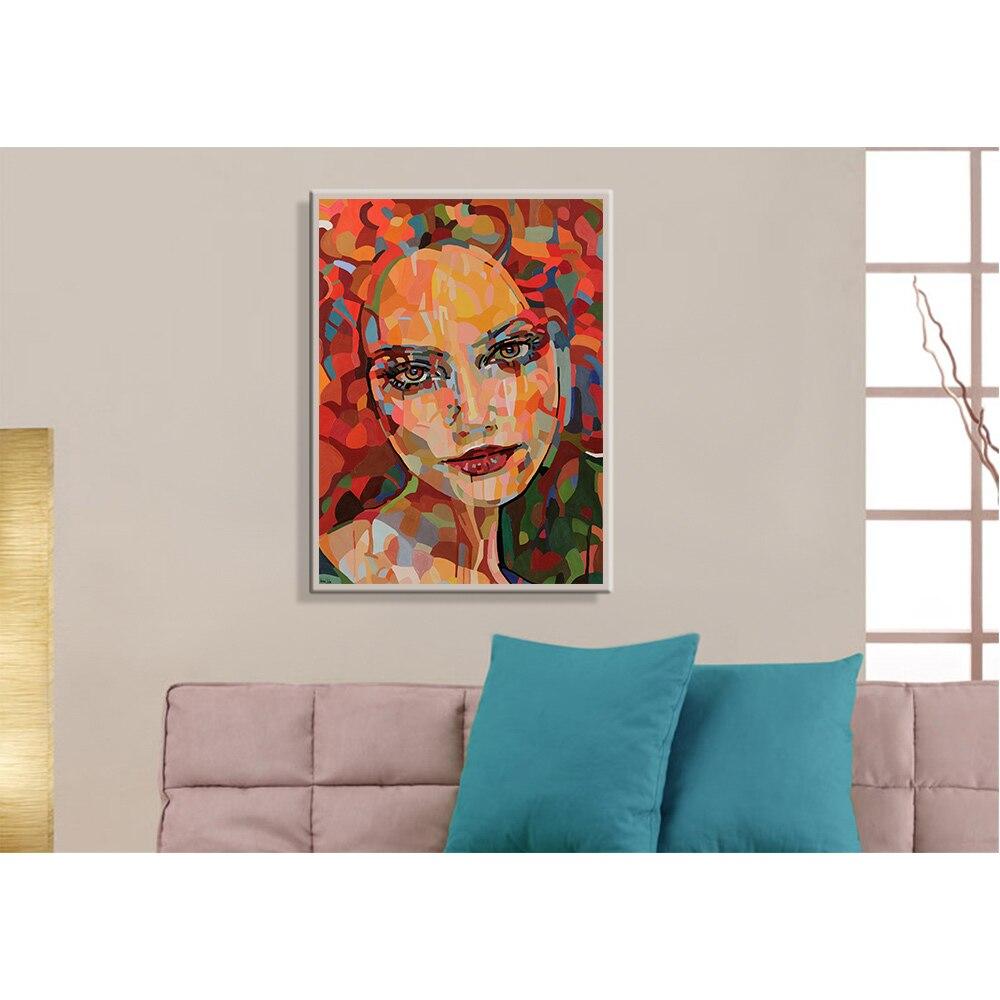 Nordic Стиль Mordern Красочные Девушка патио мебель плакат Принт росписи обоев для Гостиная живопись по номерам Декор