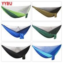 YYBU 290*140cm wiszący hamak z moskitierą Arny zielony 1 2 odkryty dorosłych podróży Camping Home hamak ogrodowy krzesło obrotowe