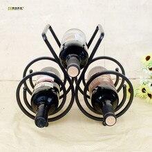 1 STÜCK LONGMING HAUSE Neueste eisen weinregal drei flaschen rotwein flaschen halter Hauptlieferungsdekoration design KI 2059