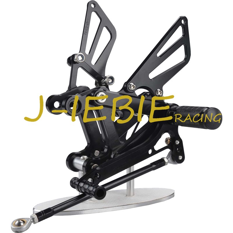 CNC Racing Rearset Adjustable Rear Sets Foot pegs For Kawasaki NINJA ZX6R 1998-2002 ZX9R 1999-2003 ZZR600 2005-2008 BLACK motorcycle handlebars clip on for kawasaki zx6r 600cc zx9r 900cc 1998 2002 page 2
