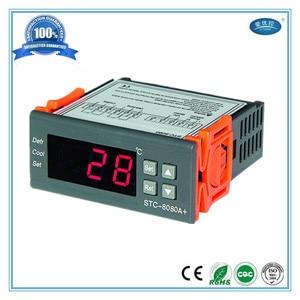 Цифровой термостат регулятор температуры дисплей холодильник с датчиком термостат 220 В для глубокой морозильной камеры терморегулятор