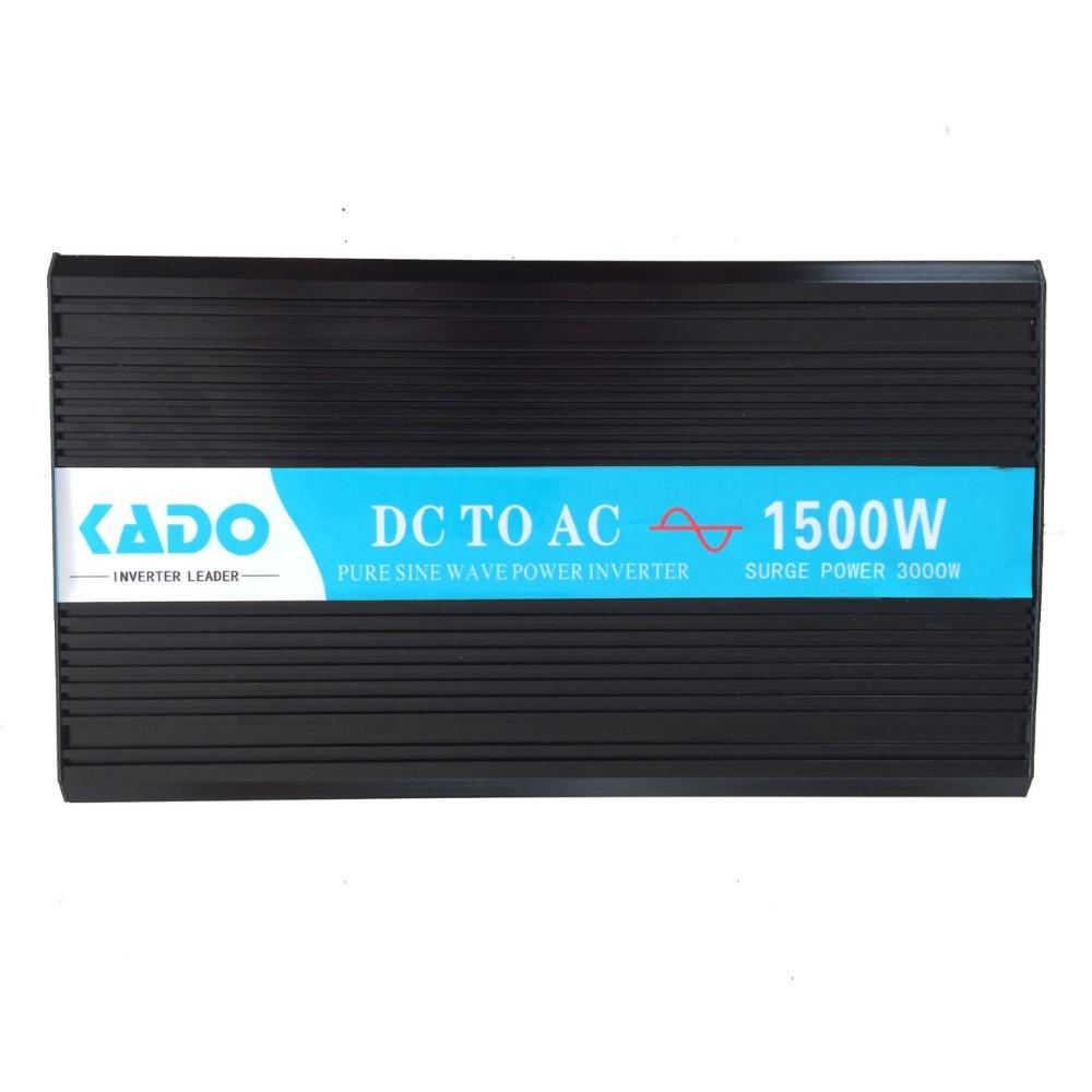 3000W Peak Pure Sine Wave Inverter 24V 220V 1500W Solar Power Inverter Auto Converter Mains 12V/24V/48V DC to 110V/120V/220V AC