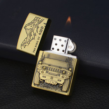 Four-wheel drive off-road vehicle Light Metal Emery Wheel Gas Lighter Mens Gift of Merchandise and Smoking Gccessories