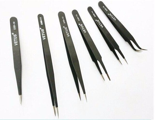 все цены на  Anti-Static tweezers Vetus bga ESD Tweezers ESD-10 ESD-11 ESD-12 ESD-13 ESD-14 ESD-15  онлайн