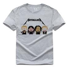 Metallica O-neck Casual T shirt Short Sleeve For Men T-shirt for Gameplayer Man Woman t shirts White Gary S-3XL
