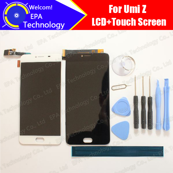 UMI Z LCD Display+Touch Screen 100% Original New Tested Digitizer Glass Panel Replacement For Z+Tools+Adhesive
