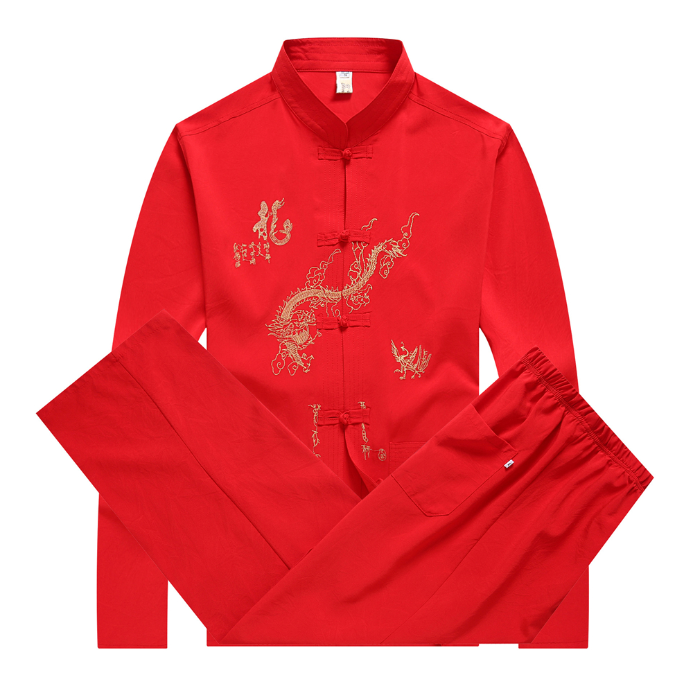 Hengteng Mens Design Breathable Japanese Style Oriental Dragon Short Sleeve Classic Polo Shirt Black