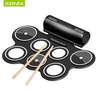 2017 neue jahr geschenk Digitale Kids USB tragbare faltbare Roll-up e-drum kit set