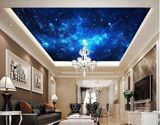 Benutzerdefinierte Decke Tapete Das Universum Sterne Wandmalereien