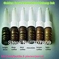 Envío gratis 6 unid tinta del tatuaje y Maquillaje Permanente Cosméticos De Oro rosa Micro Pigmento de Color