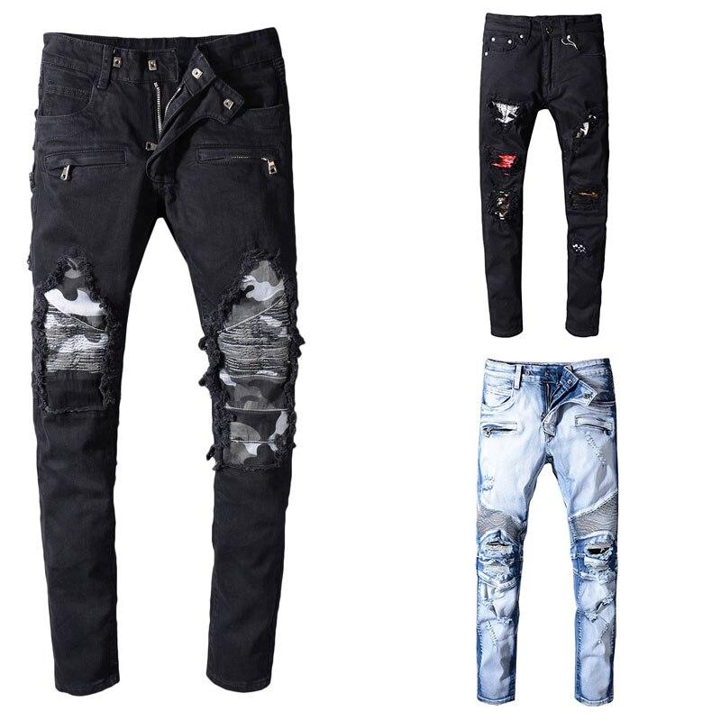 2019 Italiaanse Stijl Mode Skinny Jeans Stretch Casual Mannen Jeans Nieuwe Designer Klassieke Jeans Mannen Hoge Kwaliteit Mannen Jeans-in Spijkerbroek van Mannenkleding op  Groep 1