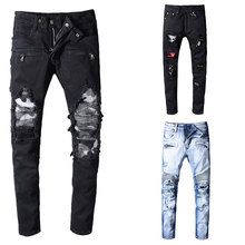 2019 Italian Style Fashion Skinny Jeans Stretch Casual Men New Designer Classical High Quality