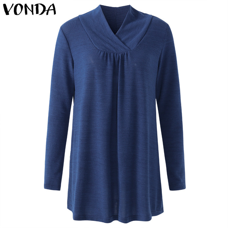 VONDA 2019 Spring Autumn Maternity Clothings Pregnant Women Casual Loose Long Sleeve Blouses Shirts Pregnancy Plus Size Tops Islamabad