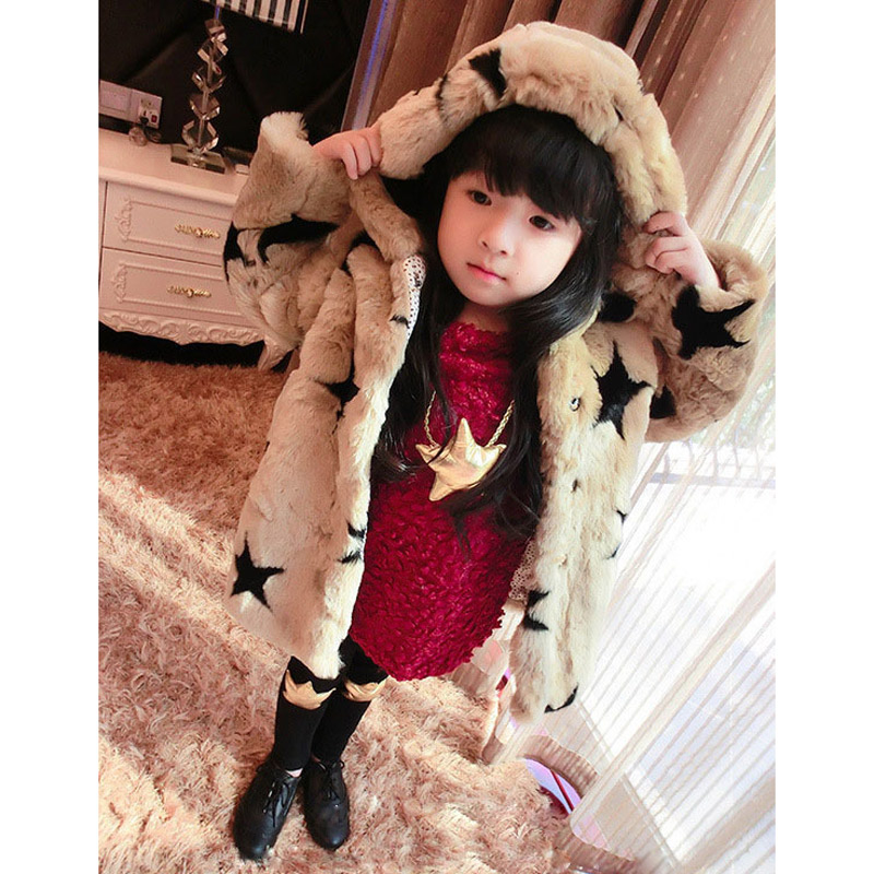 JKP artificial rex rabbit fur new autumn and winter coat boy girl thickening warm fur hooded jacket female cotton fashion SW-18