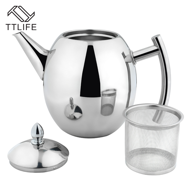 TTLIFE 2017 High Quality 1000ML 1500ML Stainless Steel Coffee Kettle Teapot Coffee Kettle Style Tea and