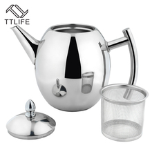TTLIFE 2017 Hohe Qualität 1000 ML/1500 ML Edelstahl Kaffee Wasserkocher Teekanne Kaffee Wasserkocher Stil Tee und Kaffee Drip Wasserkocher topf