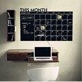 60*100 cm Blackboard Chalkboard Chalk Black Board Stickers Removedable Schedule Planner Sticker For Office Room
