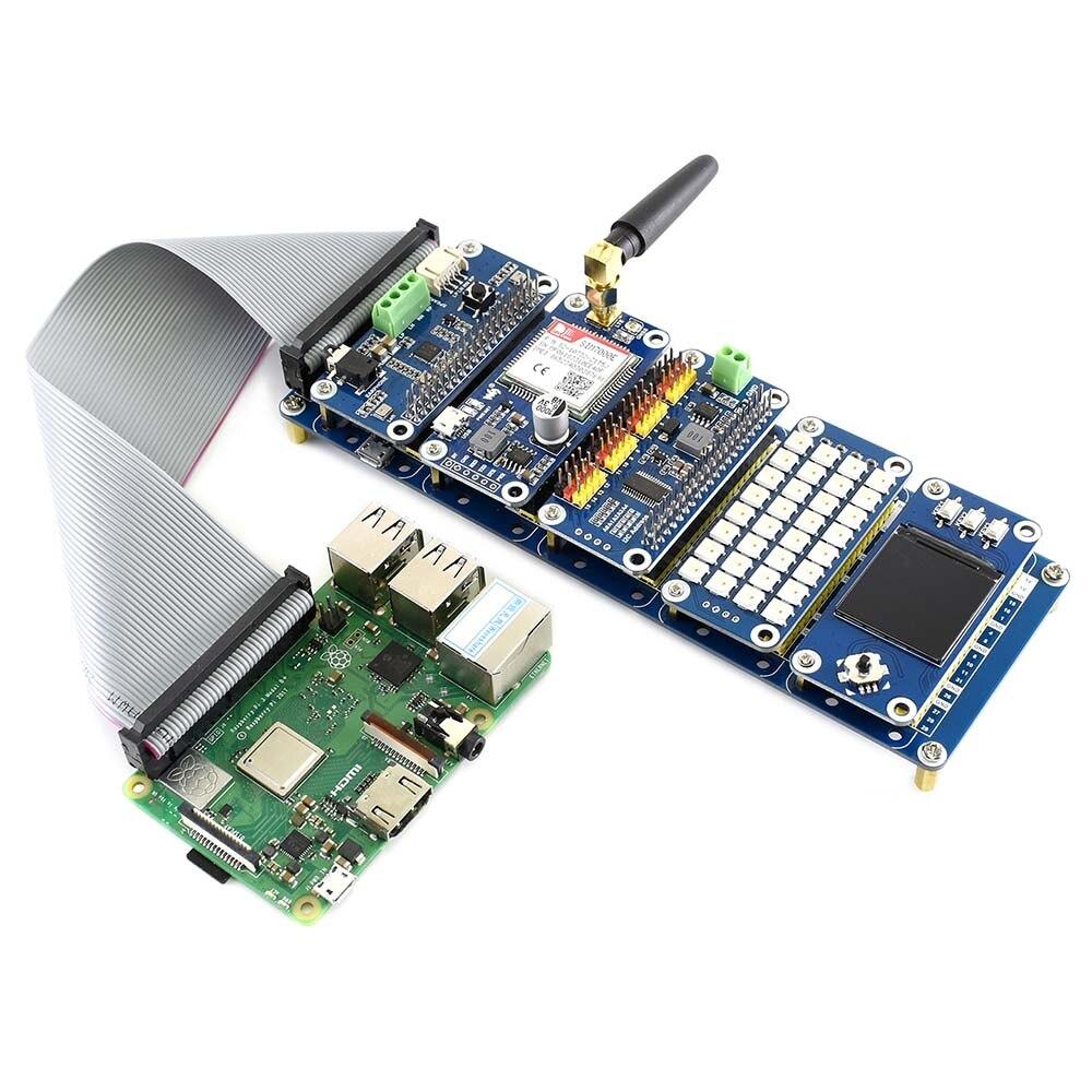 Pilha CHAPÉU, um I/O kit de expansão projetado para Raspberry Pi, fornece conjuntos de 2 5x20 pinheaders, empilha até 5 Chapéus de uma só vez