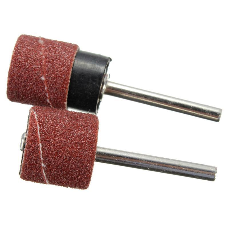 100 pz levigatura tamburo maniche 1/2 disco di carta abrasiva mola - Utensili abrasivi - Fotografia 3