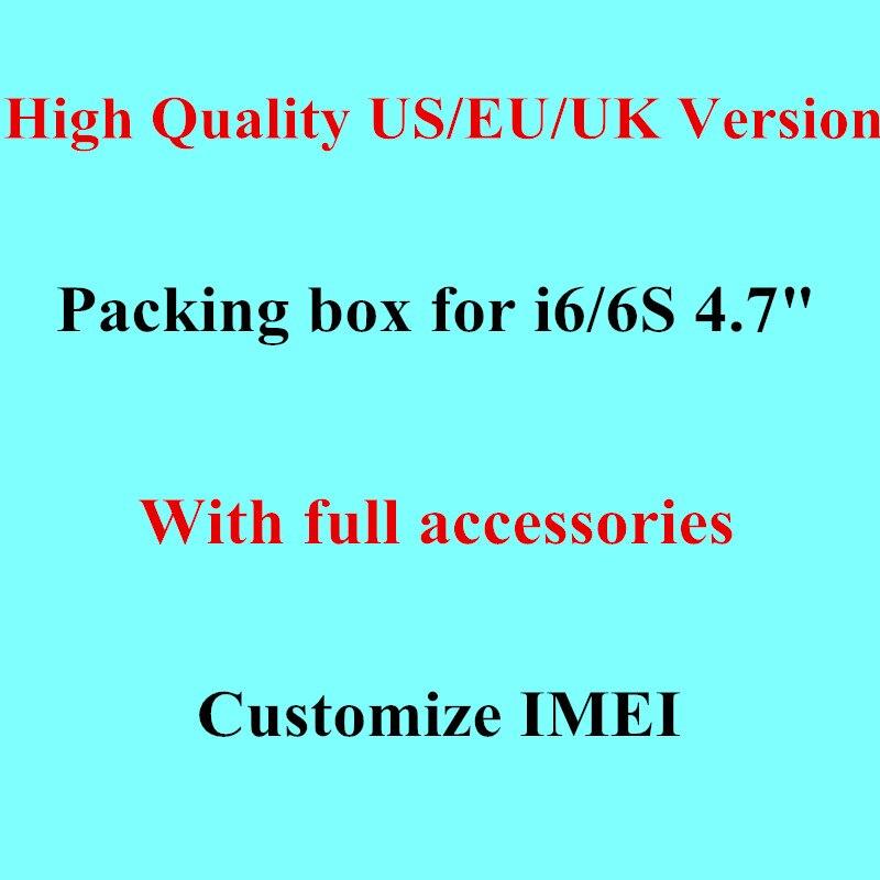 Цена за DHL 20 штук Оригинальное качество США/EU/Великобритания Версия Зарядное устройство в ppaer упаковку для iPhone 6/6 S 4'7 с полной Аксессуары