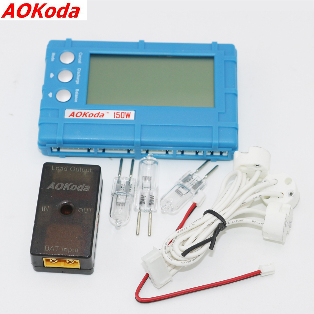 AOKoda 150W 3 in 1 RC 2s-6s Lipo Li-Fe Battery Balancer LCD+Voltage Meter Tester+Discharger