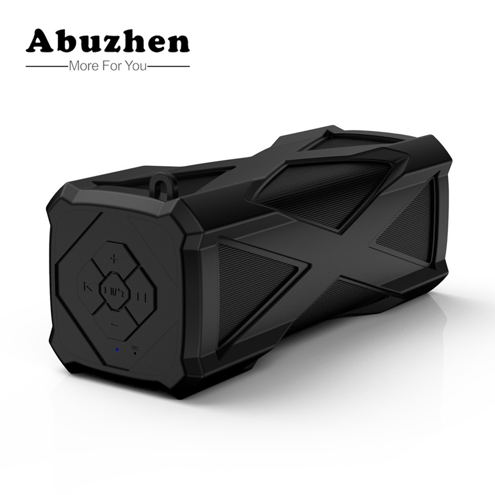 Abuzhen Bluetooth Speaker Water-Resistant Dustproof Shockproof Outdoors Wireless Speakers Portable 4000mAh Power Bank TF AUX zealot handsfree wireless portable speaker touch operation bluetooth speaker power bank aux tf card slot shockproof tpu cover