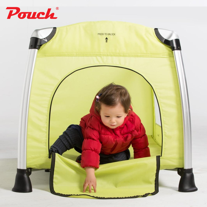 купить Pouch Portable Folding Crib, Children's Aluminum Alloy Bed, Baby's Game Bed, Multi Function Bb Bed, H13 недорого
