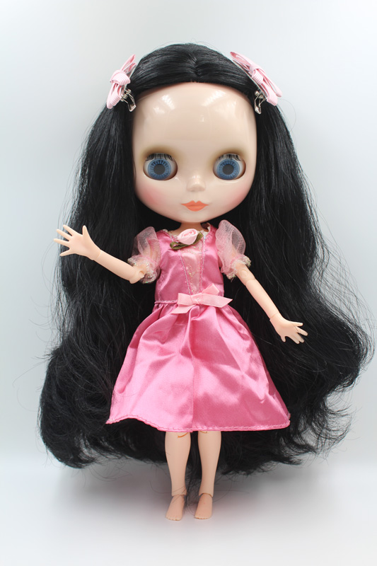 Free Shipping BJD joint RBL-309J DIY Nude Blyth doll birthday gift for girl 4 colour big eyes dolls with beautiful Hair cute toy цена