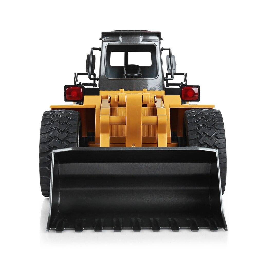 HuiNa1520 RC voiture 6CH 1/18 camions métal Bulldozer charge RTR télécommande camion Construction véhicule voitures pour enfants jouets cadeaux - 3