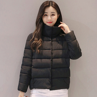 2018 New Casual Winter Jacket Women Stand Collar Cotton Padded Autumn Basic Jackets Womens Short Coat Camperas Mujer