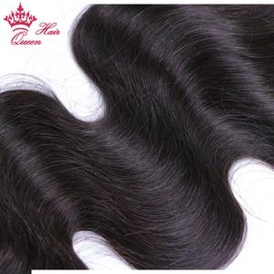 Image 5 - Queen productos para el cabello con cierre de encaje, pieza libre, cabello virgen brasileño, cuerpo ondulado, 100%, cabello humano, Color Natural, cierre de gran tamaño