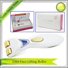 5PCS/LOT DHL Free Shipping Bio Wave Microcurrent Derma Spa Meso Skin Care Roller Titanium Gold