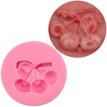 Fruit cherry shape Silicone Fondant Soap 3D Cake Mold Cupcake Jelly Candy Chocolate Decoration Baking Tool Moulds FQ2231
