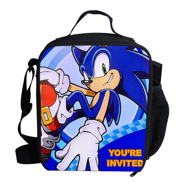2018 Popular Lunch Bag For Kids Sonic the hedgehog Lunch Bag For Boys Personalized Insulated Lunch Bag Thermal Cooler Children