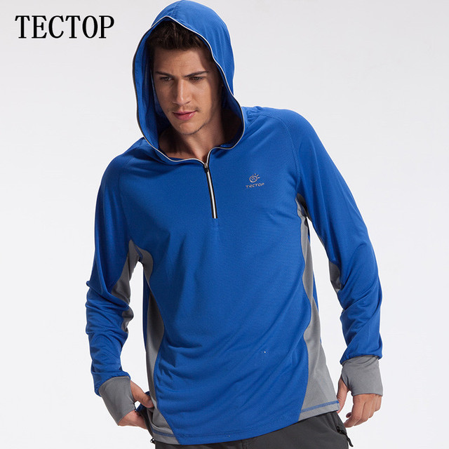Famous TECTOP New Outdoor Mens Hoodies Clothing Sun Protection Thin Long  OP41