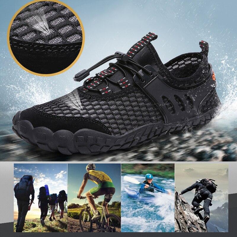 Chaussures pour hommes été Aqua sports de plein air chaussures de Wading chaussures d'eau en amont zapatillas mujer pour la randonnée pêche Surf équitation chaussures