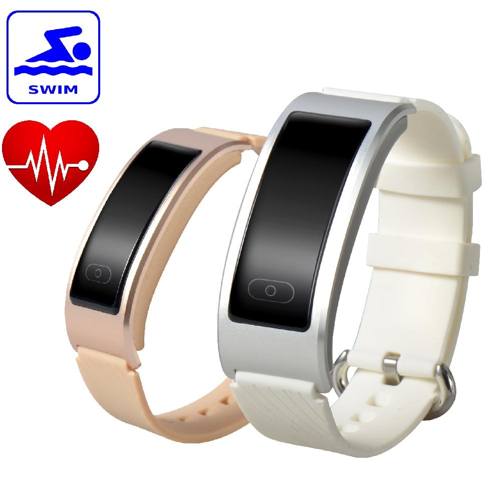 Orginal DF23 Sports Bracelet font b Smart b font Band Swimming Waterproof Heartrate Monitor Intelligent Clock