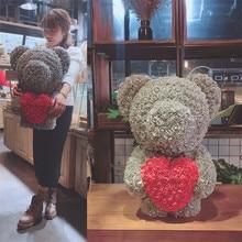 Подарок на день Святого Валентина, 38 см, романтическая искусственная Роза, собака для свадьбы, Подарок на годовщину девушки, креативный подарок DIY, без коробки