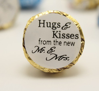 125 piece You decide the text custom Hershey Kiss Personalized WEDDING LABLE Bride and Grome Glossy hug and kiss candy sticker