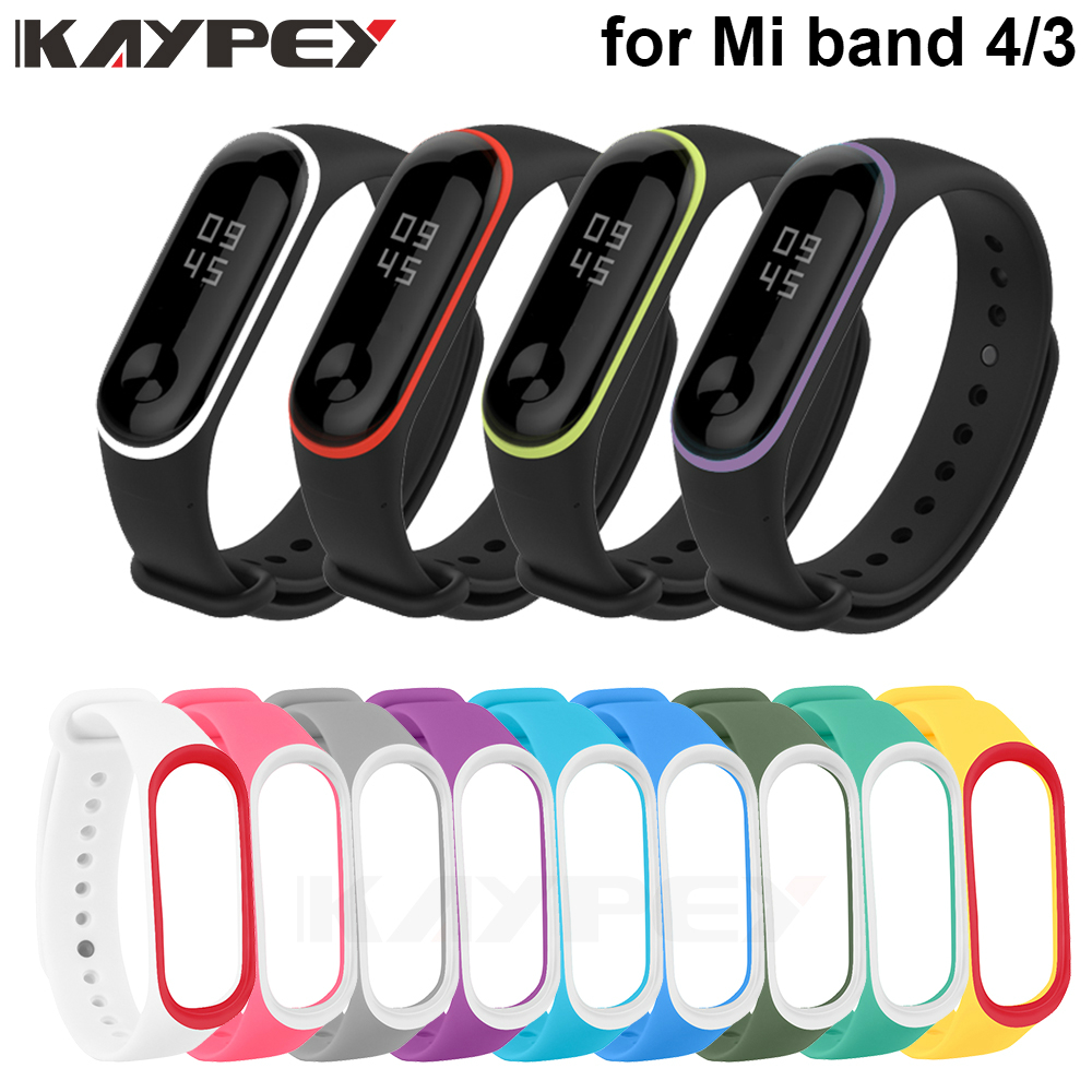 Soft Bracelet For Xiaomi Mi Band 4 3 Strap Silicone Wrist Strap For Miband 3 Correa Smart Accessories Mi Band 3 4 Strap Bracelet