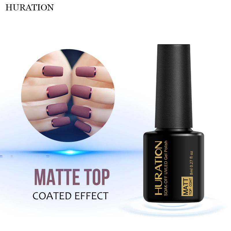Huration Matt Scrub Gel Lacquer 8ml Clear Soak UV LED Lamp ...