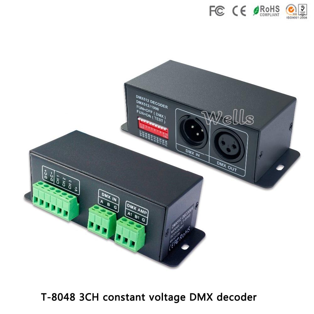 LT-8048 DMX-PWM constant voltage decoder DC12-48V input;4A*3CH output  led comtroller for led lamp stripLT-8048 DMX-PWM constant voltage decoder DC12-48V input;4A*3CH output  led comtroller for led lamp strip