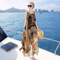 Women 100 Silk dress Beach dress 100% Natural Silk Elegant Vintage dress V neck Holiday summer dresses Free Shipping HOT Sell